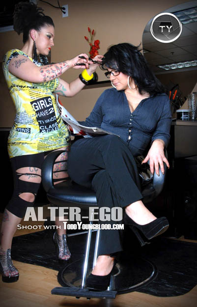 Hair Stylist and Client Alter Ego