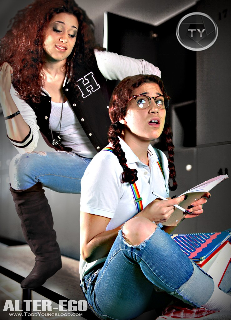 Nerd vs Popular Girl Alter-Ego Photo