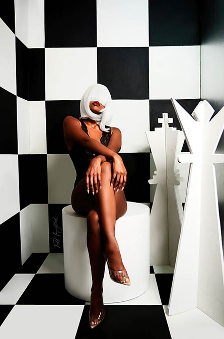 Fashion photography with a chess