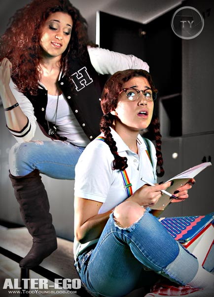 Nerd vs Popular School Girl Alter Ego