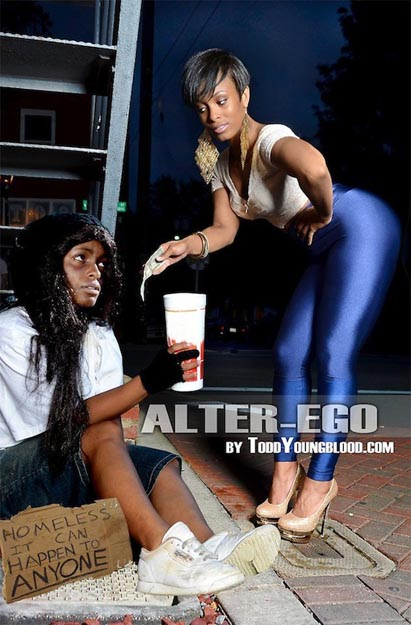 Wealth help Homeless Alter Ego Photo