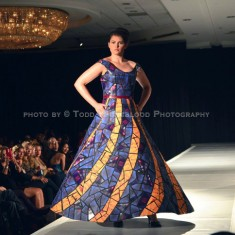 Recyclable Stained Glass Dress